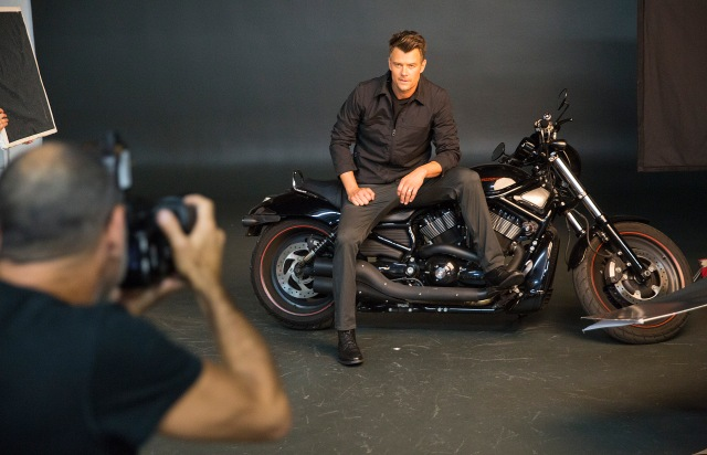 Behind the scenes with Josh Duhamel for Sharper Image. Photos by Colin Young-Wolff